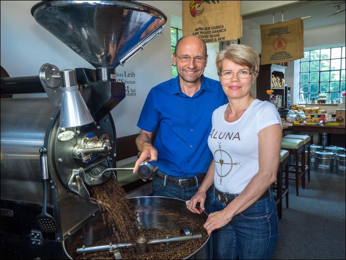 Rupert und Petra Müller - Besitzer der Kaffeerösterei PeRu